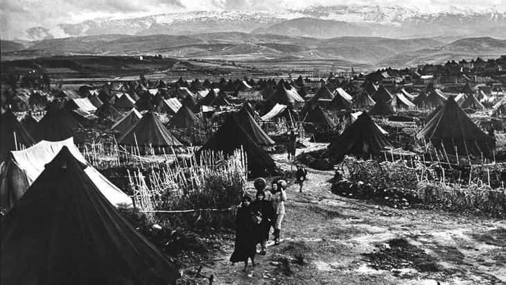 نهر البارد، أول مخيم فلسطيني بعد حرب عام 1948.