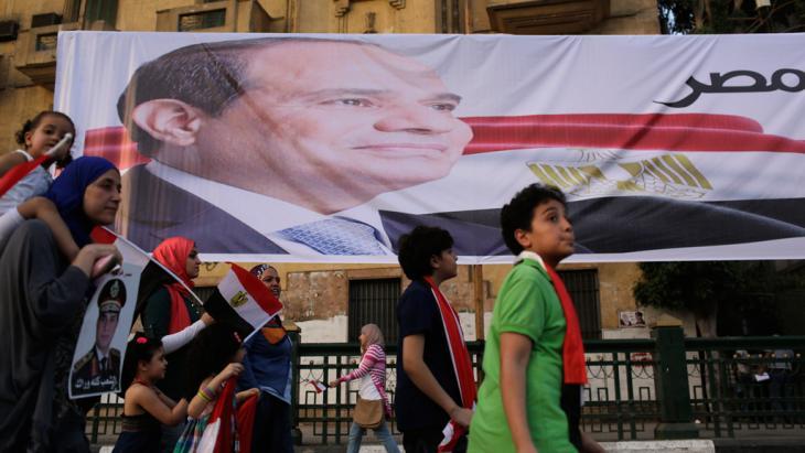 من أنصار عبد الفتاح السيسي في القاهرة بتاريخ 03 / 06 / 2014.