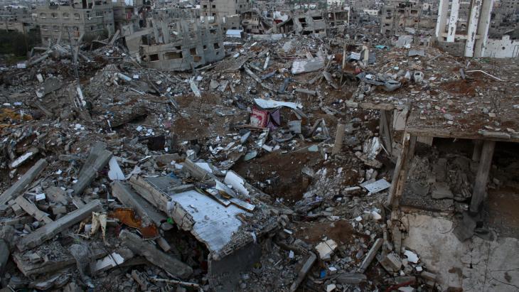 منظر لحي الشجاعية في غزة.