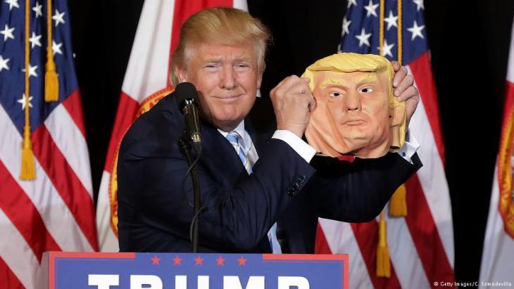 """ترامب...الرئيس الأمريكي الذي يتمناه تنظيم """"داعش"""" Trumpmitmaske"""