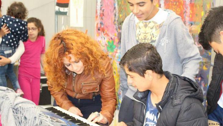 لقاء فني مع شبان وأطفال لاجئين سوريين بألمانيا