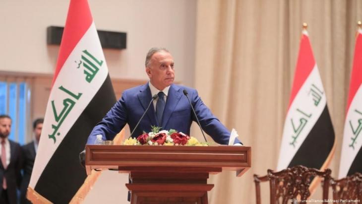 """تعهد رئيس الوزراء العراقي، مصطفى الكاظمي، بعدم """"تكرار الخروقات الأمنية"""" وذلك بعد أكبر هجوم انتحاري في بغداد منذ ثلاث سنوات."""