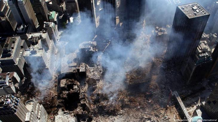 ذكرى الإرهاب - مركز التجارة العالمي في نيويورك - الذي دُمِّر عام 2001.