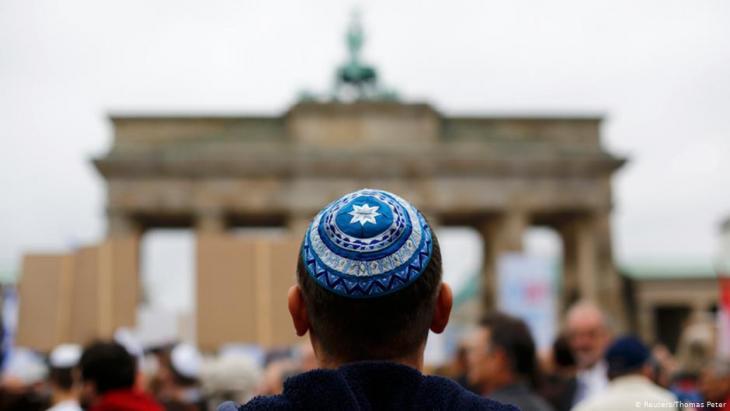 مظاهرة ضد معاداة السامية في برلين - في سبتمبر / أيلول 2014.