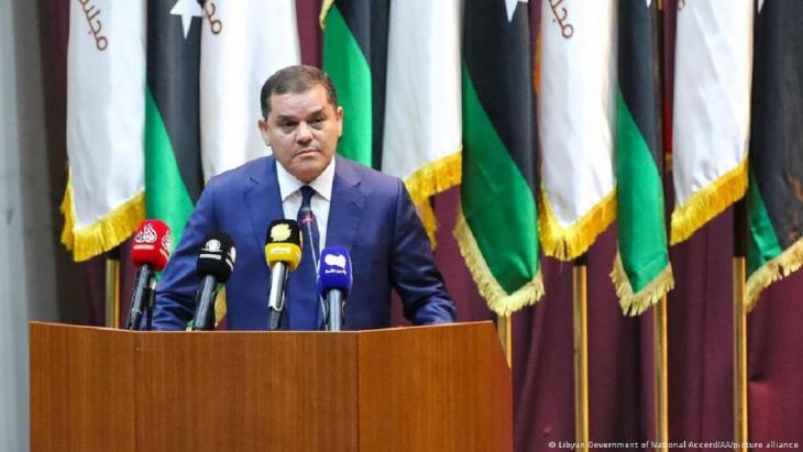 رئيس حكومة الوحدة الوطنية الليبية عبد الحميد الدبيبة.