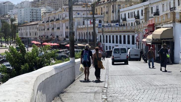 منظر من متنزه ميناء طنجة - المغرب.