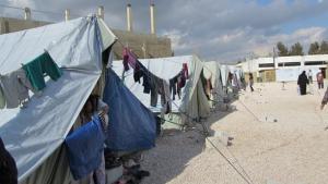 مخيمات العبور أو الاستقبال في بلدة المرج. حقوق الصورة سوزان شميلتر