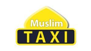 صورة عن شعار التاكسي الإسلامي . muslimtaxi.de