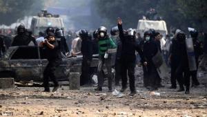اضطرابات في ميدان التحرير في القاهرة. د أ ب د