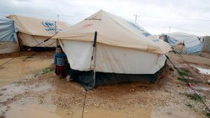 مخيم الزعتري للاجئين السوريين في الأردن. رويترز