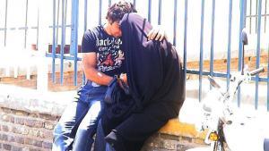 شاب وفتاة تربطهما علاقة حب في إيران. دويتشه فيله