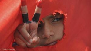 جانب من مظاهرة احتجاجية في اليمن. د ب أ