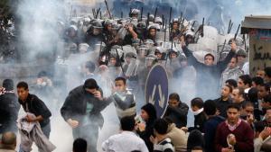 مظاهرات ضد الحكومة في القاهرة. د أ ب د
