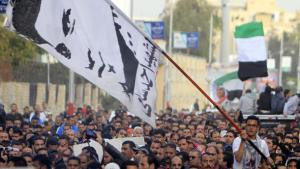 احتجاحات في بور سعيد على أحكام المحكمة. رويترز