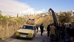 """الفيلم الألماني """"ماء بارد - 45 دقيقة إلى رام الله"""" حول القضية الفلسطينية:  الصورة بريف نيو ورك"""