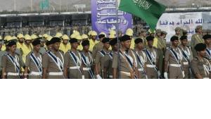 قوات سعودية في طريقها إلى البحرين، الصورة د ب ا