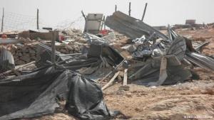منشآت فلسطينية هدمت في منطقة جنوب الخليل، الصورة دويتشه فيله