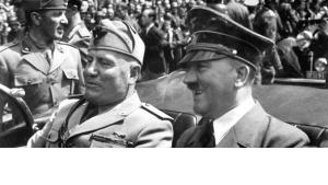 موسيليني وهتلر
