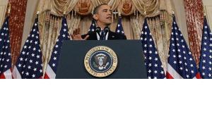 الصورة د ب ا،  أوباما يخاطب شرق أوسط لا يعرف الخوف