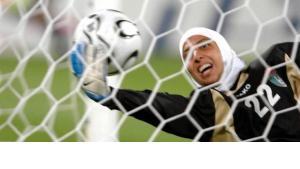 اللاعبة الأردنية طرفة الراموني ،  الصورة د ب ا