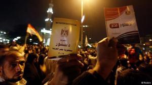 مؤيدون للدسنور المصري. رويترز