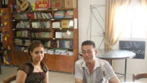 صالة في مركز نبع التعليمي بمخيم عين الحلوة