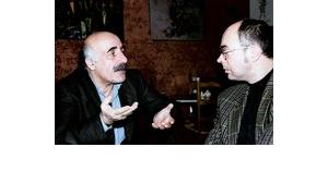 عباس بيضون وميشائيل كليبرغ، الصورة: لاريسا بندر