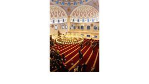"""احتفال بافتتاح مسجد """"مركز"""" الكبير في مدينة دوسبورغ الألمانية ، الصورة: د.ب.أ"""