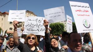 الاحتجاجات المطلبية في  الأراضي الفلسطينية: الصورة مهند حامد