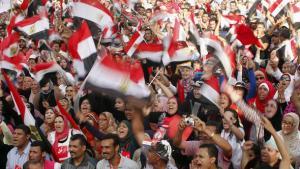 مظاهرة احتجاجية ضد مرسي في الإسكندرية. رويترز