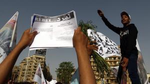 احتجاجات نشطاء حركة تمرُّد في ميدان التحرير بالقاهرة. د ب أ