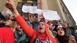 مظاهرات ضد مرسي في القاهرة. رويترز
