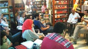 A reading in Cairo, Egypt (photo: Nael El Toukhy/DW)