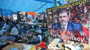 اعتصام لأنصار مرسي في القاهرة. أ ب