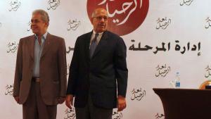 حمدين صباحي (يسار) ومحمد البرادعي. رويترز