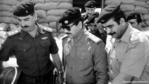 مزق صدام حسين اتفاقية الجزائر في سنة 1980 علنا على شاشات التلفزيون وأعلن بدء الحرب العراقية الإيرانية. صدام حسين رفع شعار الدفاع عن البوابة الشرقية ضد الفرس المجوس وأطلق اسم (قادسية صدام) على الحرب تيمنا بمعركة القادسية الأولى.