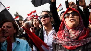 مظاهرات احتجاجية نسوية ضد الإخوان المسلمين في القاهرة. picture-alliance/landov