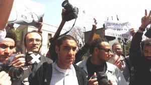 مظاهرات احتجاجية في مصر ضد المضايقات الأمنية. photo: picture-alliance/dpa