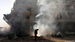 دمار وخراب في حمص. photo: Reuters