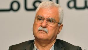 جورج صبرا رئيس المجلس الوطني السوري المعارض في مؤتمر صحفي في مدينة اسطنبول في تركيا بتاريخ 21 أغسطس/ آب 2013. photo: AFP/Getty Images