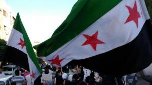 مظاهرات احتجاجية ضد بشار الأسد في حي جوبر في دمشق. Foto: Reuters