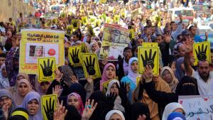 احتجاجات أنصار الرئيس المصري المعزول محمد مرسي في الإسكندرية. Foto: picture-alliance/AA