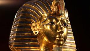قناع جثة الفرعون: جزء من معرض توت عنخ آمون. Foto: dpa/picture-alliance