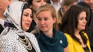 نساء مسلمات في مؤتمر الإسلام 2013 في برلين. Foto: picture-alliances/dpa