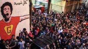 مظاهرة في القاهرة لإحياء ذكرى مقتل جابر صلاح أحد نشطاء حركة 6 إبريل. Foto: picture-alliance/dpa