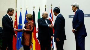 بعد الاتفاق في المحادثات النووية في جنيف. Foto: Reuters