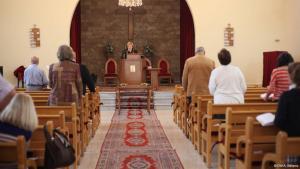 رولا سليمان في كنيستها في طرابلس اللبنانية. photo: DW/A. Williams