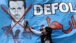 رسم جداري ضد الأسد في اسطنبول. Foto: dpa/picture-alliance