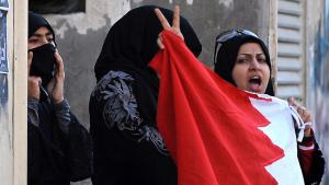 مظاهرات قرب المنامة ضد الحكومة في البحرين. Foto: picture-alliance/dpa