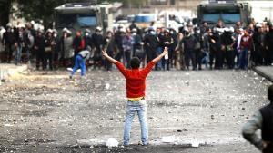 مواجهات عنيفة في ميدان التحرير. Foto: Mohammed Abed/AFP/Getty Images